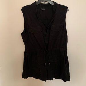 A.N.A button up vest, tie front, w/pockets, sz xl
